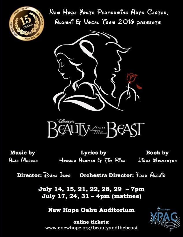 Beauty and the Beast 2016 FLYER